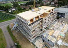 Apartment House Härtlerbüel: Even the Terraces are made of Cross Laminated Timber
