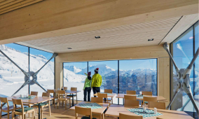 Hotels, restaurants and alpine buildings