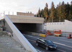 Second wildlife overpass with wooden cover